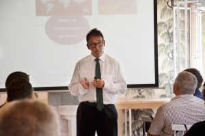 Prof. Dr. Volker Nürnberg, Lehrbeauftragter der TU München, bei seinem Vortrag