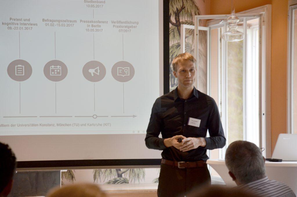 Utz Niklas Walter bei seinem Vortrag #whatsnext
