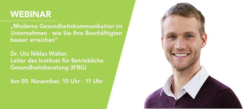 Dr. Utz Niklas Walter Webinar