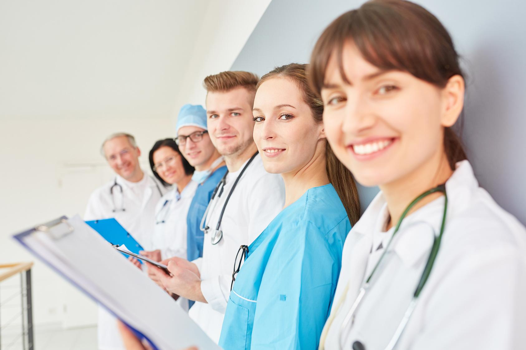 Gemeinsam als Team im Gesundheitswesen