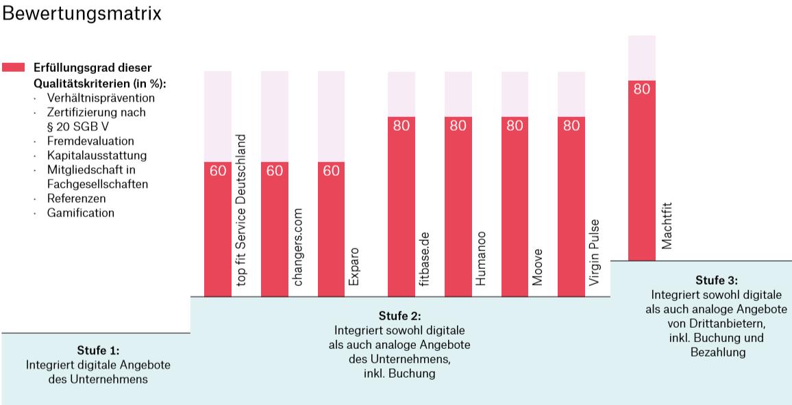 Bild zeigt Bewertungsmatrik für BGM-Anbieter