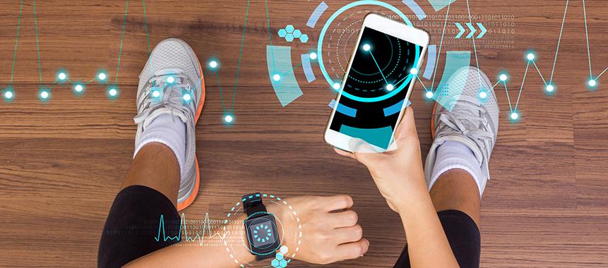 Bild zeigt moderne Prävention und Gesundheitsfördeurng durch Digitalisierung
