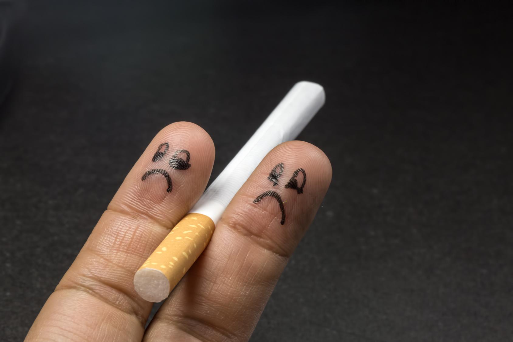 Bild zeigt Zigarette und Notwendigkeit von Gesundheitsförderung durch Suchtprävention